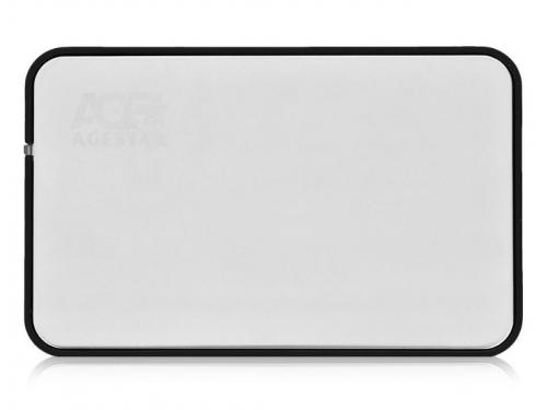 Корпус для жесткого диска AgeStar 31UB2A8 (2.5'', SATA - microUSB3.1b), серебристый, вид 1