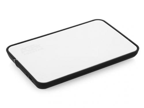 Корпус для жесткого диска AgeStar 31UB2A8С (2.5'', SATA - microUSB3.1с), серебристый, вид 2