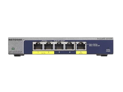 Коммутатор (switch) NETGEAR ProSafe GS105PE-10000S, вид 1