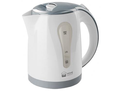 Чайник электрический Home-Element HE-KT156, белый/серый, вид 1