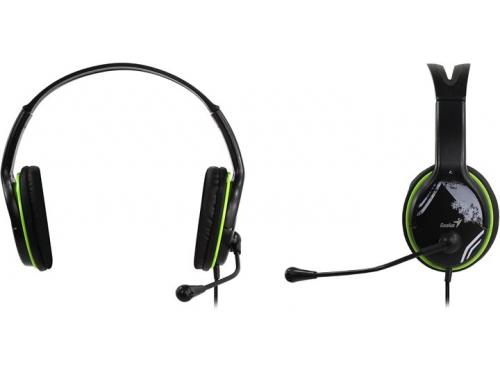 Гарнитура для ПК Genius HS-400A, черная с зеленым, вид 1