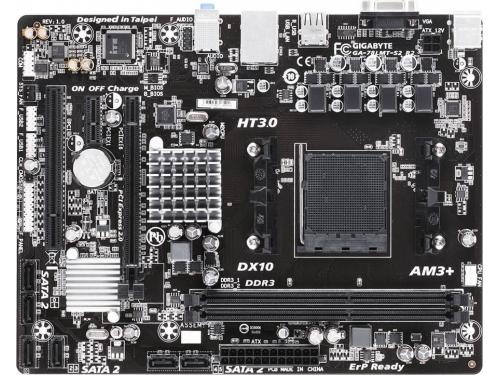 Материнская плата Gigabyte GA-78LMT-S2 R2 AM3+, AMD 760G , вид 1