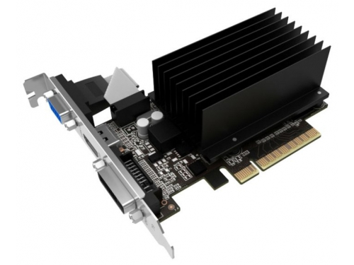 Видеокарта GeForce Palit GeForce GT 710 954Mhz PCI-E 2.0 2048Mb 1600Mhz 64 bit DVI HDMI HDCP Silent, вид 2