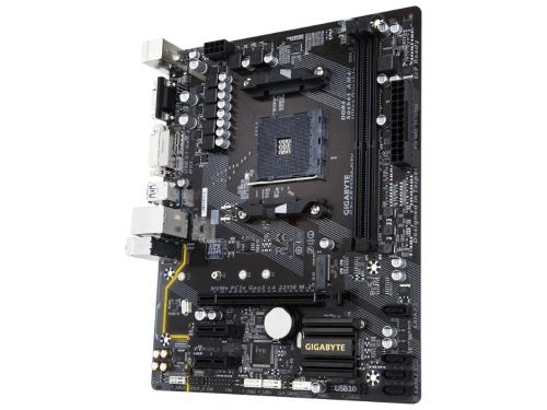 Материнская плата Gigabyte GA-AB350M-D3V Soc-AM4, AMD, mATX, DDR4, SATA 3, USB 3.0, вид 1
