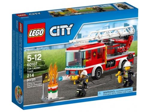 Конструктор LEGO City 60107, Пожарная машина с лестницей, вид 5