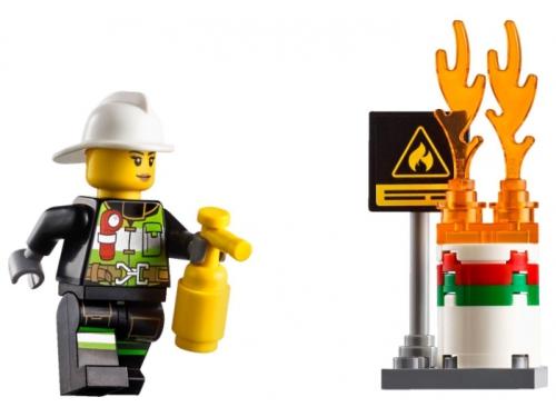 Конструктор LEGO City 60107, Пожарная машина с лестницей, вид 2
