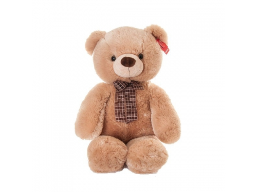 Игрушка мягкая Aurora Медведь медовый с бантом, 69 см, вид 1