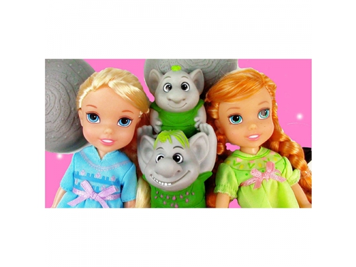 Набор игровой Disney Холодное Сердце принцессы Холодное Сердце (2 куклы 15 см и тролли), вид 2