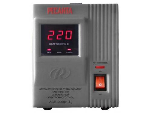 Стабилизатор напряжения РЕСАНТА АСН-2000/1-Ц, 2000 Вт, AVR, вид 2
