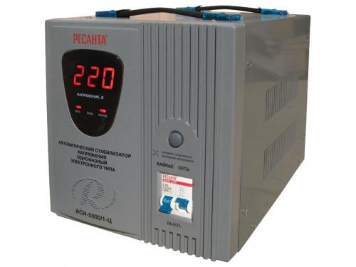 Стабилизатор напряжения Ресанта АСН-5000/1-Ц, электронный, вид 2