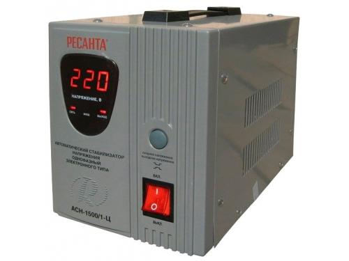 Стабилизатор напряжения РЕСАНТА АСН-1500/1-Ц, электронный, вид 2