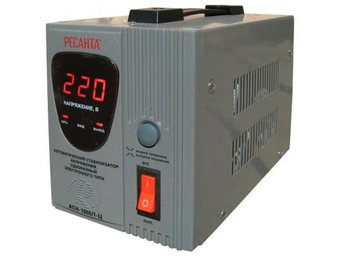 Стабилизатор напряжения РЕСАНТА АСН-1000/1-Ц, электронный, вид 2