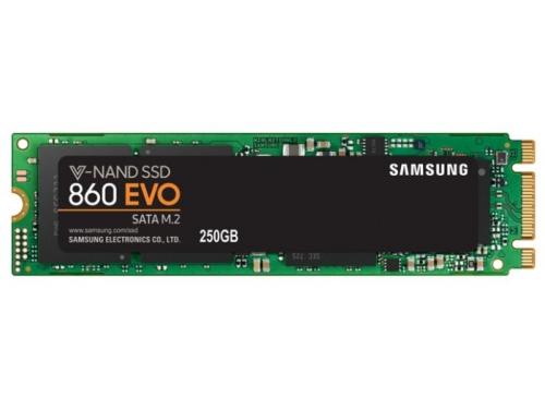 SSD-накопитель SSD Samsung MZ-N6E250BW 250Gb, M.2 2280, 860 EVO, вид 2