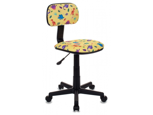 Компьютерное кресло Бюрократ CH-201NX/DINO-Y, динозавры на желтом, вид 1