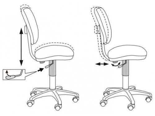 Компьютерное кресло Бюрократ CH-204NX/26-291, оранжевый, вид 3