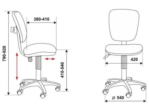 Компьютерное кресло Бюрократ CH-204NX/26-291, оранжевый, вид 4