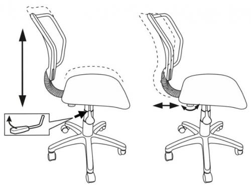 Компьютерное кресло Бюрократ CH-295/LB/MARK-LB голубой марки, вид 3