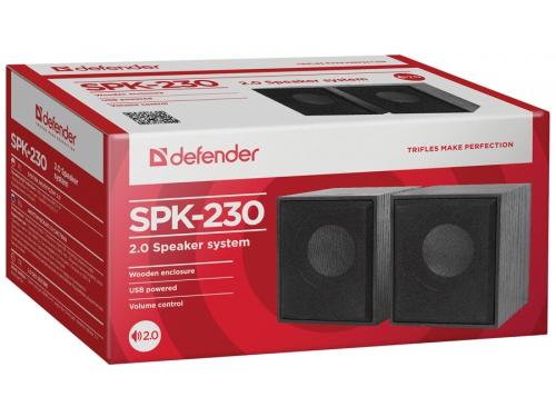 Компьютерная акустика Defender SPK-230, чёрная, вид 6