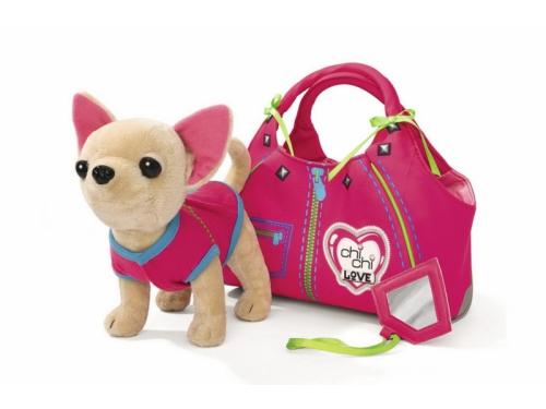 Игрушка мягкая Simba Чихуахуа Zipper, с сумкой, 20 см, вид 1