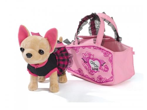 Игрушка мягкая Simba Плюшевая собачка Вампирчик, в платье с крылышками, в сумочке, 20 см, вид 2