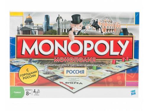 Товар для детей Настольная игра Hasbro монополия Россия, вид 1