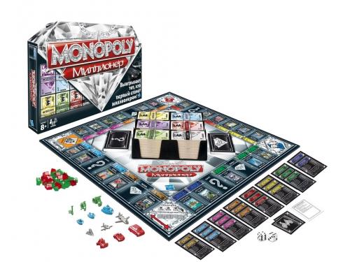 Настольная игра Hasbro games Монополия Миллионер, с аксессуарами, вид 1