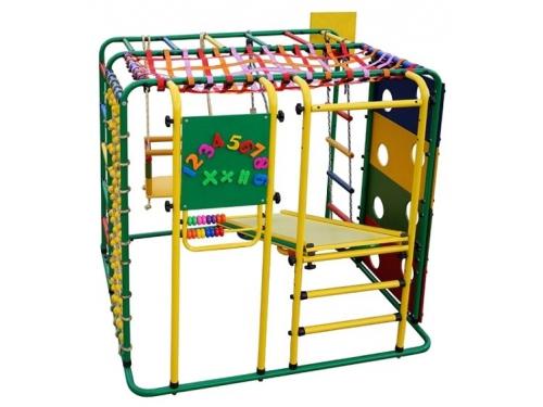 Спортивный комплекс Формула здоровья Кубик У Плюс, зелёный-радуга, вид 1