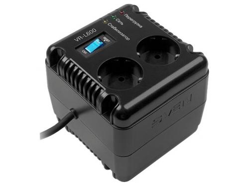 Стабилизатор напряжения SVEN VR-L600, черный, вид 1
