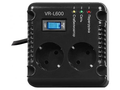 Стабилизатор напряжения SVEN VR-L600, черный, вид 2
