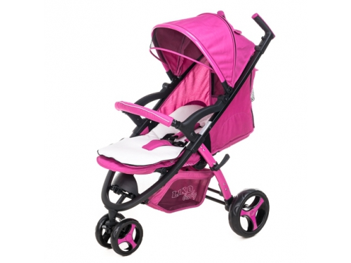 Коляска Liko Baby BT-1218, розовая, вид 8