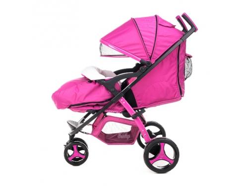 Коляска Liko Baby BT-1218, розовая, вид 12