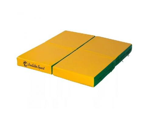 Мат гимнастический Perfetto Sport № 11 зелёно-жёлтый, вид 1