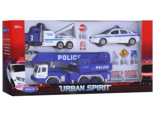 Товар для детей Welly набор машин Полиция, 10 шт., вид 4