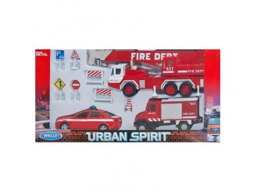 Набор игровой Welly Пожарная служба (машинки), 10 шт., вид 2