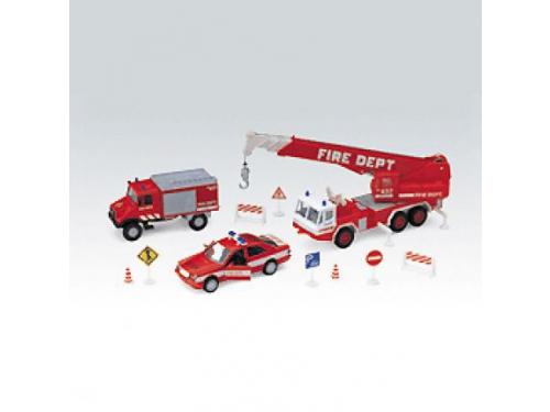 Набор игровой Welly Пожарная служба (машинки), 10 шт., вид 1