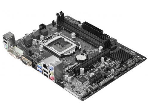 Материнская плата ASRock H81M-DGS R2.0 (mATX, LGA1150, Intel H81, 2x DDR3), вид 2