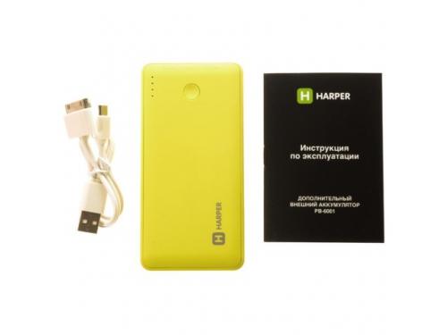Аксессуар для телефона Harper PB-6001 (6000 mAh), лайм, вид 2