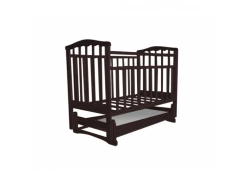 Детская кроватка Агат Золушка-4, шоколад, вид 1