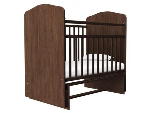 Детская кроватка Агат Золушка-10, вишня, вид 1