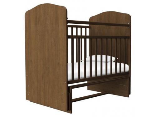 Детская кроватка Агат Золушка-10, орех, вид 1