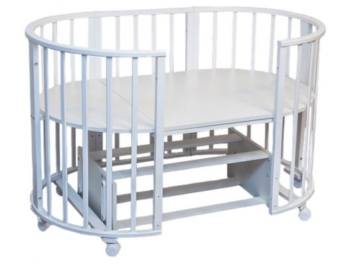 Детская кроватка Папа Карло 6 в 1 (трансформер), белая, вид 1