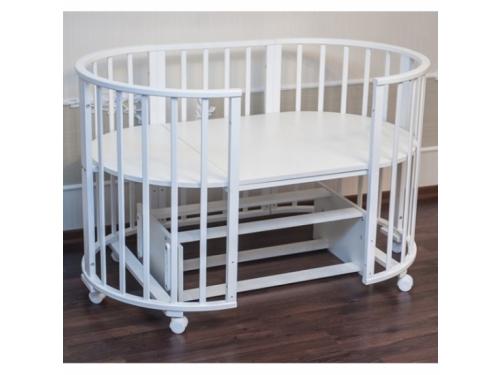 Детская кроватка Папа Карло 6 в 1 (трансформер), белая, вид 12