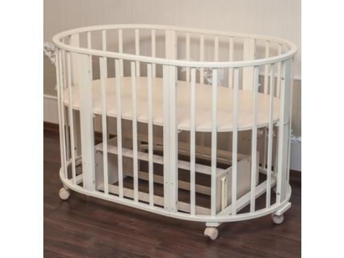 Детская кроватка Папа Карло 6 в 1 (трансформер), бежевая, вид 1