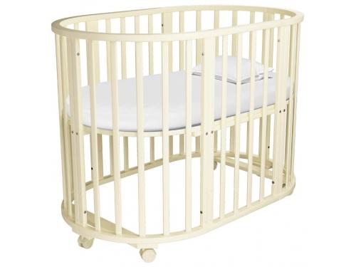 Детская кроватка Папа Карло 5 в 1 (трансформер), бежевая, вид 1