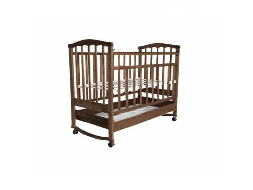Детская кроватка Агат Золушка-2, орех, вид 1