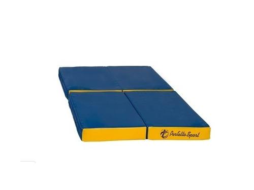 Мат гимнастический Perfetto Sport № 11 (складной), сине-жёлтый, вид 1