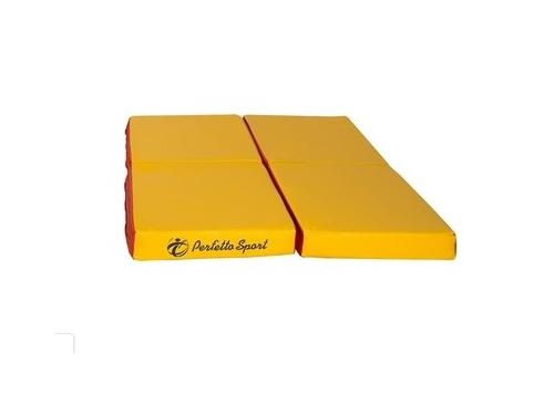 Мат гимнастический Perfetto Sport № 11 красно-жёлтый, вид 1