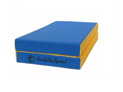 Мат гимнастический Perfetto Sport № 3 blue-yellow, вид 1