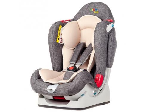 Автокресло детское Liko Baby LB 510, серое/лен, вид 3
