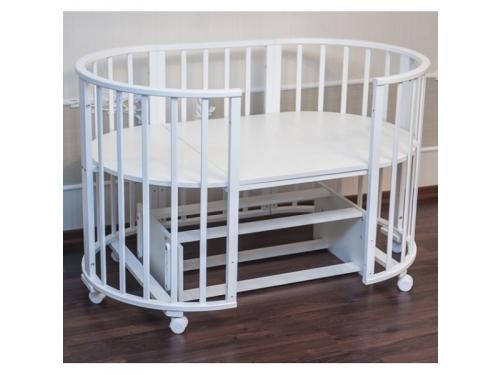 Детская кроватка Папа Карло 6 в 1 (трансформер), белая, вид 2